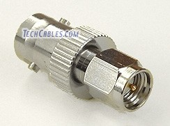 BNC female jack to SMA male plug adapter