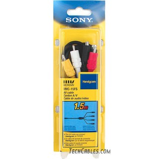 Sony� VMC-15FS 10-pin to 3 RCA/S-Video camcorder cable