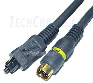 3 ft Python� S-Video + Toslink optical audio cable