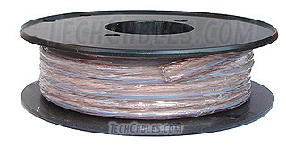 25\' spool 12-gauge  clear speaker wire