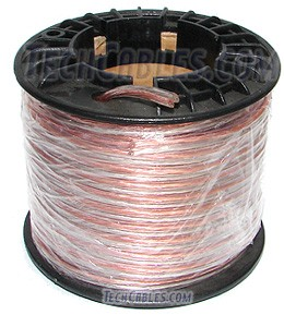 50\' spool 18-gauge clear speaker wire