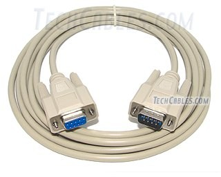 10 ft RS-232 DB9 serial male to female extension cable