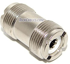 UHF (SO-239) female to female coupler adapter